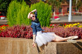 Ballerina Resting In A Park. Royalty Free Stock Image - 62372216