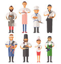 Vector Cooking Chefs People Vector Illustration Stock Images - 62385974
