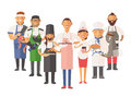Vector Cooking Chefs People Vector Illustration Royalty Free Stock Photo - 62385975