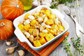 Chicken Baked With Pumpkin Stock Photos - 62388273