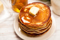 High Pile Of Delicious Pancakes Stock Image - 62391561