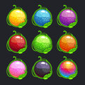 Funny Cartoon Colorful Round Buttons Royalty Free Stock Photo - 62396375