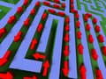3D Labyrinth With Red Arrow Stock Images - 6241904