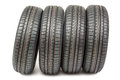 Car Tires On White Background. Royalty Free Stock Image - 62401406