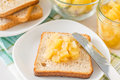 Toast With Pineapple Jam And Slices Stock Photo - 62402970