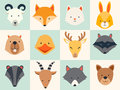 Set Of Cute Animals Icons Royalty Free Stock Photo - 62418455