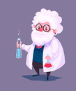 Funny Scientist Character.  Vector Stock Photography - 62420142