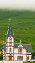 Church In Husavik, Small Town And Harbor In North Iceland Royalty Free Stock Photography - 62425847