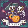 Invitation Poster To The Day Of The Dead Party Royalty Free Stock Image - 62430286