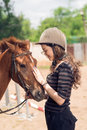 Girl And Horse Stock Image - 62439261