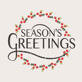 Season S Greetings Typography For Christmas/New Year Greeting Card Stock Photography - 62444192