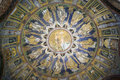 The Ceiling Mosaic Of The Baptistry Of Neon. Ravenna, Italy Royalty Free Stock Photo - 62449685