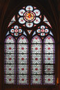 Stained Glass Window Notre Dame Royalty Free Stock Photo - 62453295