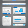 Web UI Controls Elements Gray And Blue On Dark Background Royalty Free Stock Images - 62469869
