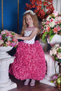 Young Princess  Among The Flowers Royalty Free Stock Image - 62475336