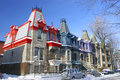 Victorian Houses In Square Saint Louis, Montreal, Canada Stock Images - 62482784