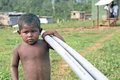 With PVC Pipes Hauling Indian Boy, Nicaragua Royalty Free Stock Photography - 62482877