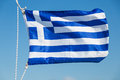 Greece Flag Fluttering In The Wind Royalty Free Stock Photos - 62489528