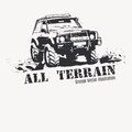 Black Offroad Vehicle With Splashes Of Mud. Royalty Free Stock Images - 62513039