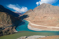 Zanskar And Indus Rivers View Royalty Free Stock Images - 62527249