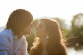 Backlight Potrtait Of Two Lovers Stock Photo - 62530570