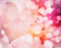Valentine S Blur Pink Hearts Background.Abstract Bokeh Illustrat Stock Image - 62533401