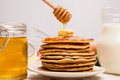 High Pile Of Delicious Pancakes Stock Image - 62536001