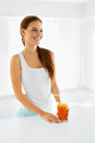 Healthy Nutrition. Vegetarian Woman Drinking Detox Juice. Food, Stock Photography - 62549522