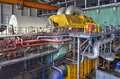 Machine Room In Thermal Power Plant With Generators And Turbines Royalty Free Stock Photo - 62553965