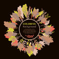 Autumnal Round Frame. Wreath Of Autumn Leaves Stock Image - 62554351