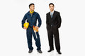 Builder And Businessman Royalty Free Stock Image - 62561256