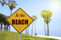To The Beach Sign Stock Image - 62564951
