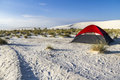 Camping Inside White Sands Monument Stock Images - 62573634