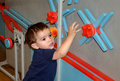 Toddler Playing And Learning At A Children S Museum Royalty Free Stock Images - 62575969