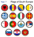 Flags Of South Europe. Flags 7. Stock Photography - 62585992