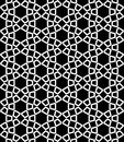 Vector Modern Seamless Sacred Geometry Pattern Hexagon, Black And White Abstract Royalty Free Stock Photography - 62589627