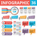Infographic Elements 36. Set Of Vector Design Elements In Flat Style For Business Presentation, Booklet, Web Site Etc. Royalty Free Stock Photos - 62595818