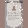 In Loving Memory Of Vector Lettering In Abstract Style, Place For Text And Photo Stock Image - 62596651