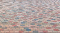 Colorful Brick Stone Street Road. Sidewalk, Pavement Texture Background Royalty Free Stock Image - 62603716