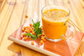 Sea Buckthorn Smoothie Stock Photo - 62604510