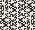 Vector Seamless Black And White Floral Organic Triangle Lines Hexagonal Geometric Pattern Royalty Free Stock Image - 62615616