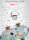 Educational And Learning Concept With Doodle Design Style Stock Image - 62629061