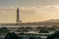 Beachy Head Lighthouse At Low Tide. Stock Photos - 62673353
