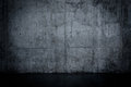 Grungy Dark Concrete Wall And Wet Floor Royalty Free Stock Images - 62691479
