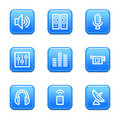 Media Web Icons Stock Images - 6273634