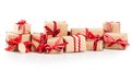 Large Pile Of Christmas Gifts With Red Bows Royalty Free Stock Photo - 62700525