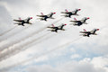 Thunderbirds Flying In Formation Stock Image - 62708591
