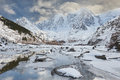 Beautiful Winter Landscape, Altai Mountains Russia. Royalty Free Stock Photo - 62711985