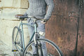 Man With Old Bike Stock Photography - 62717132