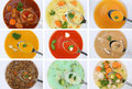 Collection Of Eating Soups Soup In Cup Tomato Vegetable Noodle O Stock Photo - 62736010